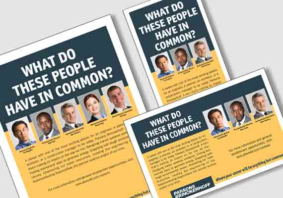 An ad campaign for Parsons Brinckerhoff to recruit new employees.