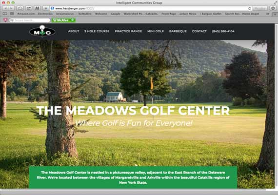 Website for a golf course in Arkville, NY. <a href='http://hessberger.com/Meadows' target='_blank' >View Website</a>